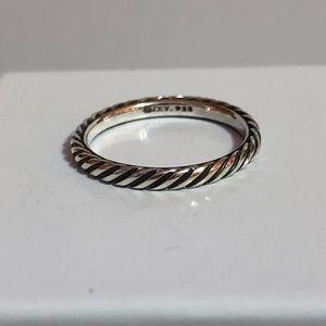David Yurman 3mm 925 classic cable band ring